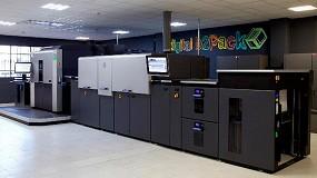 Foto de B2Pack instala la primera HP Indigo 30000 con corona en Europa