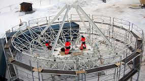 Picture of Medición y ensamblaje de dos grandes telescopios en el Círculo Polar Ártico