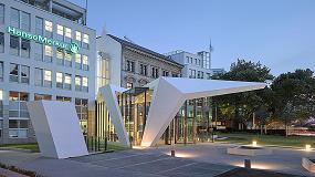 Foto de La piedra acrílica Hi-Macs es elegida para el tejado voladizo y el vestíbulo de Hanse Merkur