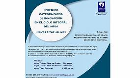 Picture of La cátedra Facsa de Innovación del Ciclo Integral del Agua de la UJI premiará los mejores trabajos de Grado, Máster y Tesis Doctorales