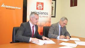 Foto de Salesianos y Hoffmann Iberia firman un acuerdo de colaboración para la Formación Profesional