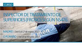Picture of Aimen organiza dos ediciones más del curso 'Inspector de tratamiento de superficies (Frosio) según NS476