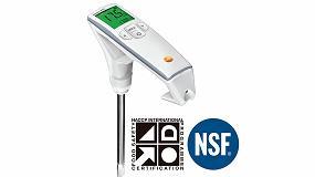 Foto de El medidor de la calidad del aceite de fritura testo 270 cuenta con la certificación NSF