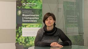 Foto de Entrevista a Eva Verdejo, responsable de la Línea de Negocio de Reciclado y Medio Ambiente en Aimplas y al frente del seminario BIOS