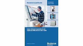 Foto de Buderus facilita la planificación de los equipos autónomos de generación de calor a través de su nuevo manual