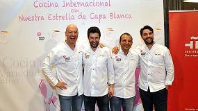 Fotografia de Cocineros con Estrellas Michelin redactan un libro de recetas con cerdo de capa blanca