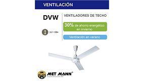 Foto de Máximo ahorro energético y ventilación con los nuevos ventiladores de techo DVW de Met Mann