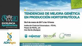 Foto de Las tendencias de mejora genética en producción hortofrutícola, protagonistas de una nueva jornada técnica