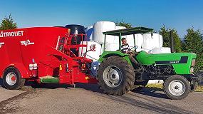 Fotografia de Ausama hace entrega en Asturias de una carro mezclador Solomix 2 de Trioliet