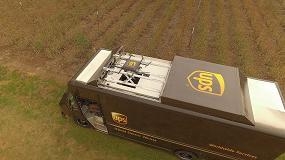 Foto de UPS prueba la entrega a domicilio con drones lanzados desde el techo de una furgoneta