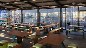 Fotografia de Instalan uin2.Glas-stil en las nuevas terrazas de McDonalds en Castro Urdiales