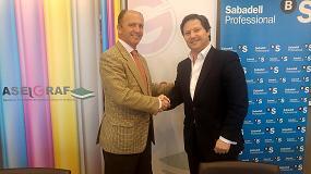 Foto de Aseigraf renueva el convenio de colaboración con Banco Sabadell