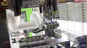 Foto de Robots en la industria del plástico