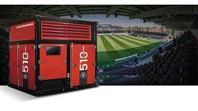 Foto de Himoinsa Power Cubes en el nuevo estadio del KV Oostende en Bélgica