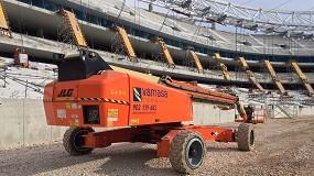 Foto de Vamasa utiliza la Ultraboom 1850SJ de JLG para la construcción del nuevo estadio del Atlético de Madrid