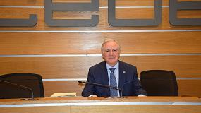 Foto de Juan Lazcano, reelegido presidente de la patronal de la construcción