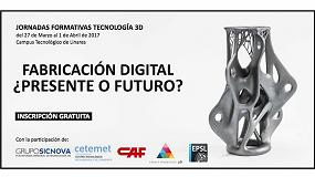 Foto de Grupo Sicnova colabora en las jornadas formativas sobre impresión 3D en Linares