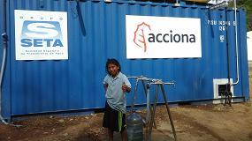 Fotografia de Acciona pone en marcha la potabilizadora para garantizar el suministro de agua a la comunidad Wiwa de Seyamake