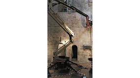 Foto de La plataforma de oruga X17J de JLG demuestra sus virtudes en el monasterio de San Cugat del Vallès