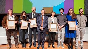 Foto de Julia Navarro, El Corte Inglés, Pedro García, Wanda Barcelona y la Escuela del Papel de Tolosa, Premios Valores del Papel 2017