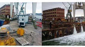 Foto de TST alquila bombas de agua y generadores para el puerto naval de Bilbao