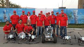 Foto de El equipo de investigadores e ingenieros andaluces 'Al Robotics' finaliza con éxito su participación en la competición MBZIRC