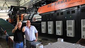 """Foto de Producción masiva de cajas 24/7 en un """"gigante"""" de 6.500 toneladas"""