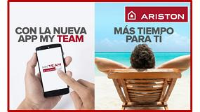 Foto de Nueva app My Team de Ariston, para instaladores del club My Team