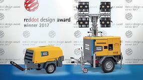 Foto de Los compresores de la serie 8 y la torre de luz Hilight H5+ de Atlas Copco, ganadores del prestigioso premio Red Dot Desing 2017