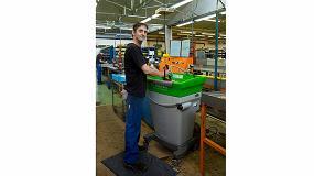 Foto de La combinación del paño Mewa y la máquina lavapiezas Bio-Circle: Una solución alternativa y ecológica de limpieza óptima para la industria y el taller