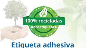 Picture of Adhesivos Coromina presenta una etiqueta adhesiva hecha en papel 100% reciclado