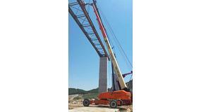Foto de Las plataformas de Vamasa participan en las obras de la presa de Mularroya