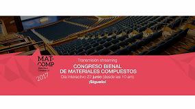 Picture of El Centro Tecnológico de Pegado retransmitirá en directo las ponencias de MatComp 2017