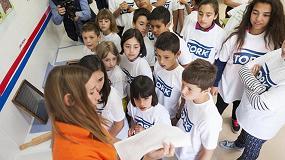 Foto de Los escolares del CP La Cruz de Allo participan en un taller de sostenibilidad e higiene con SCA y Tork