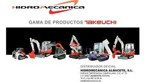 Foto de Hidromecánica enriquece su catálogo incorporando la distribución de Takeuchi para Albacete y Cuenca