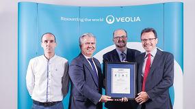 Foto de Veolia recibe los certificados de Gestión de la Calidad, Medio Ambiente, Seguridad y Salud en el Trabajo y Eficiencia Energética de la mano de Aenor
