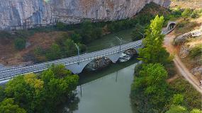 Foto de Ejecución de la obra de emergencia del puente ferroviario de la línea Venta de Baños – Santander
