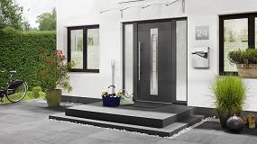 Foto de Thermo65: la puerta de entrada de Hörmann que proporciona seguridad y aislamiento término en el hogar