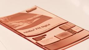 Foto de Post-impresión de cartón ondulado con una significativa reducción del efecto de marcado de la canal y gran calidad de impresión