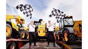 Foto de Las manipuladoras telescópicas de JCB, protagonistas en la carrera de Fórmula 1 en Silverstone