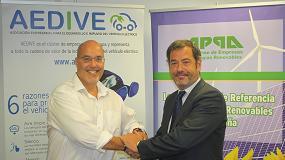 Foto de APPA y Aedive firman un acuerdo de colaboración para impulsar el vehículo eléctrico sostenible
