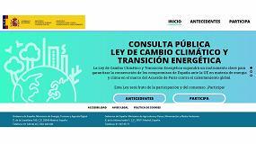 Picture of Abierto el proceso de consulta pública para la futura Ley de Cambio Climático y Transición Energética