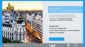 Foto de AEE Training Spain organiza un nuevo curso 'Renewable Energy Professional'