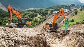 Foto de 52 excavadoras Doosan en uno de los proyectos de gasoducto más importantes de Europa