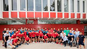 Foto de Los equipos sub-20 Santos FC y Atlético de Madrid del COTIF visitan las instalaciones de ISTOBAL