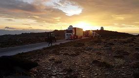 Foto de Dachser da plena cobertura logística en el sur de España durante La Vuelta 2017