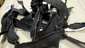 Foto de Reciclaje de desechos de moquetas PET, de la fabricación de revestimientos de interiores de coches