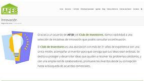 Picture of Afeb renueva su web y dedica una sección a la innovación
