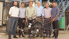 Picture of Tecnología pionera de Catec para inspecciones industriales por contacto mediante el uso de drones