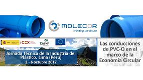 Foto de Molecor colabora en la Jornada Técnica de la industria del Plástico - Lima (Perú)